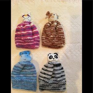 Other - Unisex hand knitted animal hats